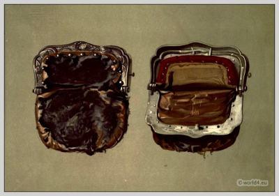 A purse worn by Sir Walter Scott. England Empire, Regency Accessoires.