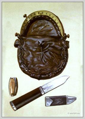Sporran. Traditional Scottish knife. Rob Roy. Skene Dhu. Sir Walter Scott.