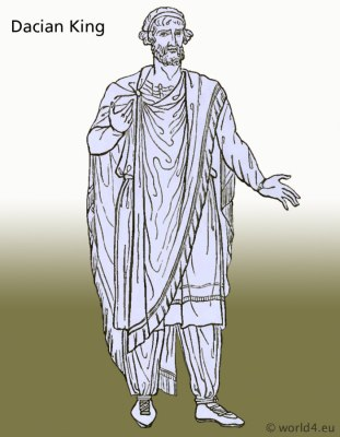 Ancient Dacian costumes and clothing. Thracian Historical tunica dresses