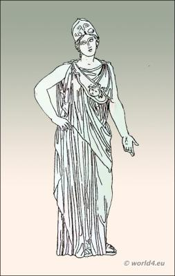 Ancient Greek clothing, chiton or tunic costume from female greece