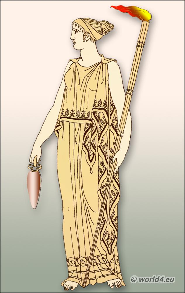 Minoan Greek Womens Fashion