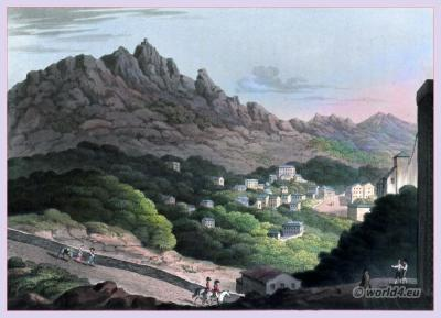Cintra National Monument. Historical Portugese landscape. Peninsula war.