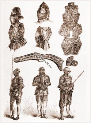 England Medieval knights Arms, Weapons and armor. Meyrick Collection