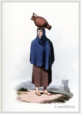 Traditional Portuguese national costumes. Peninsula war.