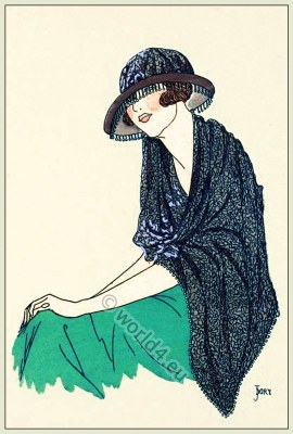 Exotique, Franca-Florio de Palerme, Modèle Lewis, Chapeaux, Art-deco, flapper, fashion, Très Parisien