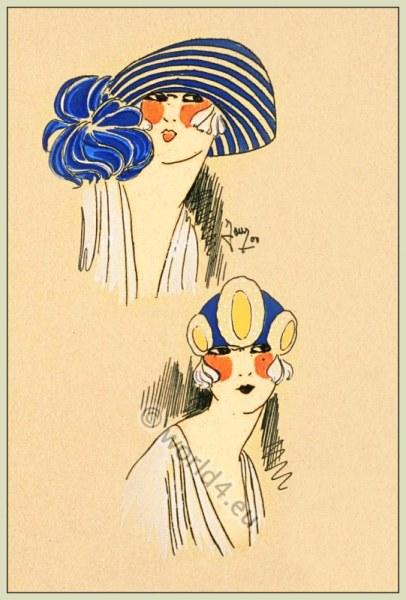 Prochain Printemps, Chapeaux, Art-deco, flapper, roaring twenties, fashion, Très Parisien