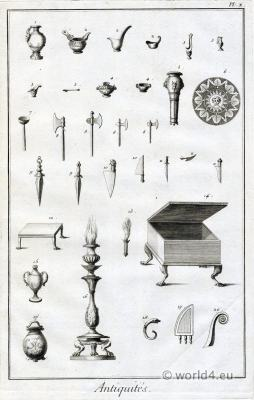 Antique objects of Roman culture. Ceremonial objects