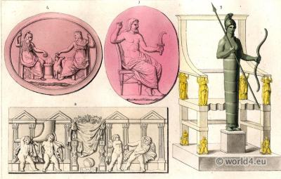 Greco Roman Classical Antiquity. Statue, sculpture gods