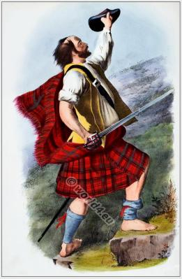 Scottish Clan kilts, tartans, dress, arms, tartans, armorial insignia, and social occupations.