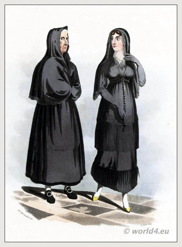 Traditional Spanish national costumes.