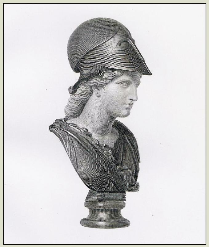 Minerva, Bust, Athene Skiras, goddes, roman, ancient Marbles, British Museum