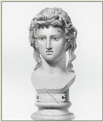 Bacchante,Bacchus, Maenad,  Ancient Greek, Bust, Character modeling.