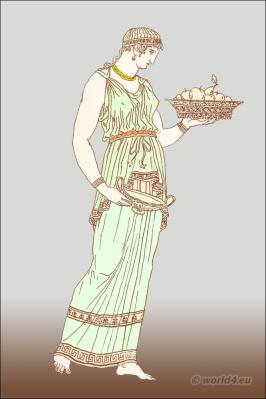 Greece girls in chiton. Ancient Greek Costume History.