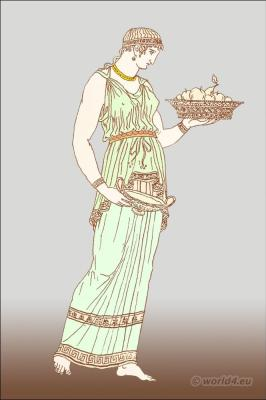 Ancient Greek clothing. How to wear a Doric chiton or tunic