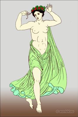 Ancient Greek Costume History. Greek Female dancer with himation
