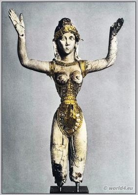 Our lady of sports. Ancient Minoan costume Knossos. Ancient Greek costume
