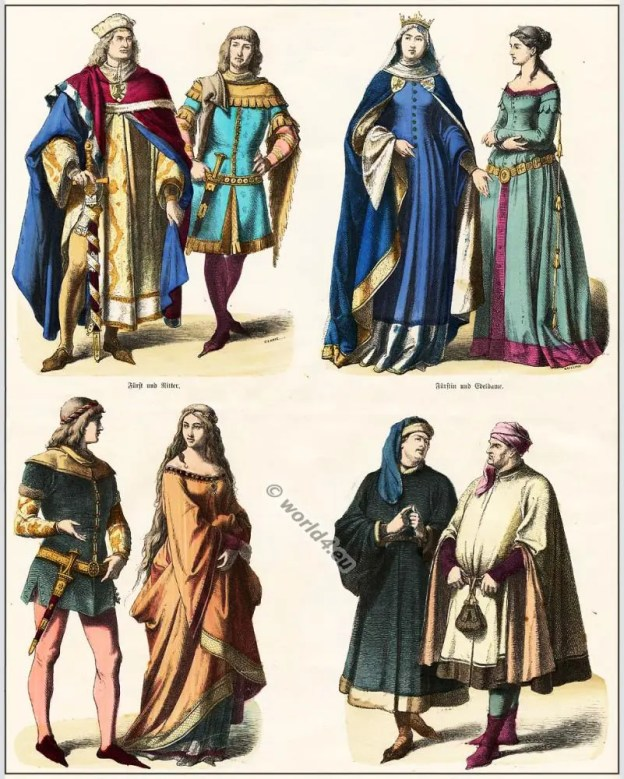 German medieval clothing in the 14th century