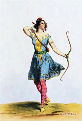 Amazon costumes. Ancient Female warrior costume