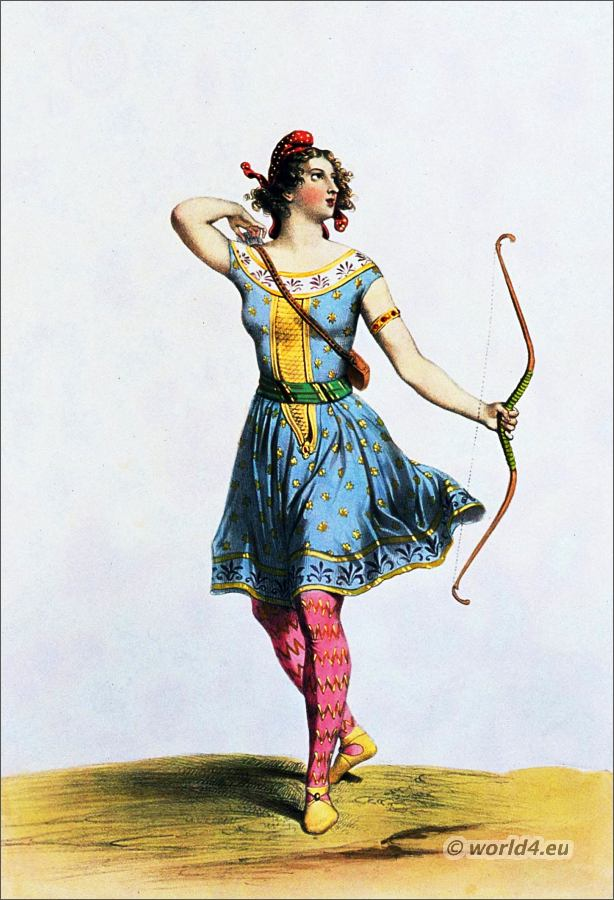 Amazon. 8th Century. Ancient. Female soldier. Historical costume.