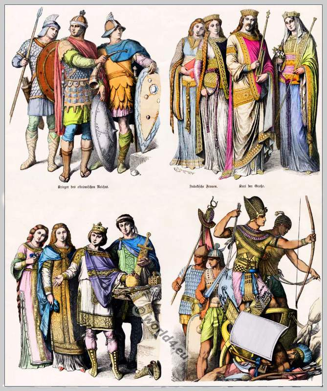 Medieval Clothes in 5th to 10th Century.