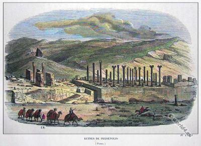 Ancient Persian Architecture. Persepolis Capital of Persia. Majestic Persian Empire. World Heritage site.
