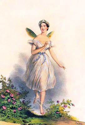 Marie Taglioni. Ballerina costume. Dance costumes. Fantasy dress