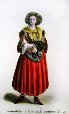 Old Swiss Sunday best. Switzerland Baroque costume recherche. 17th century fashion clothing