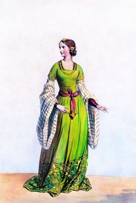 Lady of Florence. Renaissance costume italy. Middle ages fashion. Medieval Character design