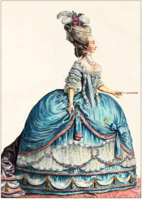 Marie Therese de Savoye. Rococo fashion. Hoop. court dress. Comtesse. Countess. Artois