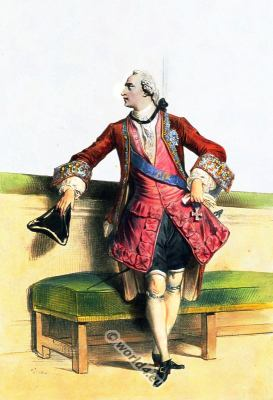 Habit à la française. 18th century fashion. French Rococo costumes. Mens dress.