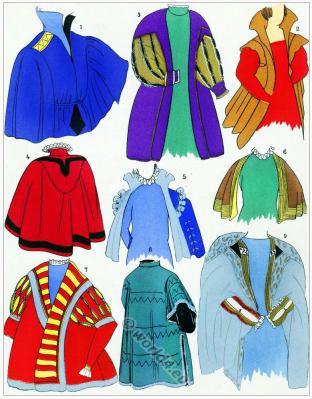 Renaissance Caps, hoods design. Coiffes, Capuchons. 16th century fashion.