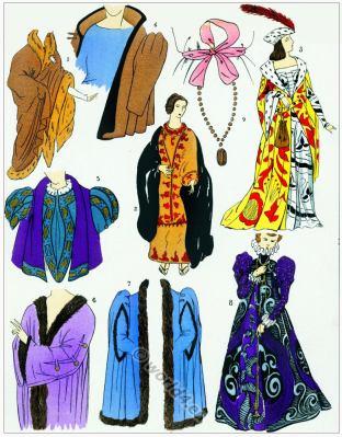 Renaissance coats, jackets design. Manteux. 16th century fashion.