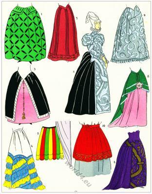 Renaissance skirts design. Jupes. 16th century fashion.