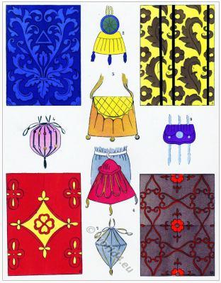 Renaissance fabrics design. Étoffes. 16th century fashion.