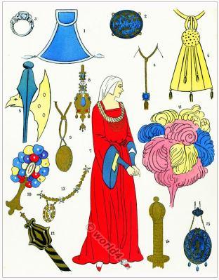 Renaissance trinkets. Colifichets. 16th century fashion.
