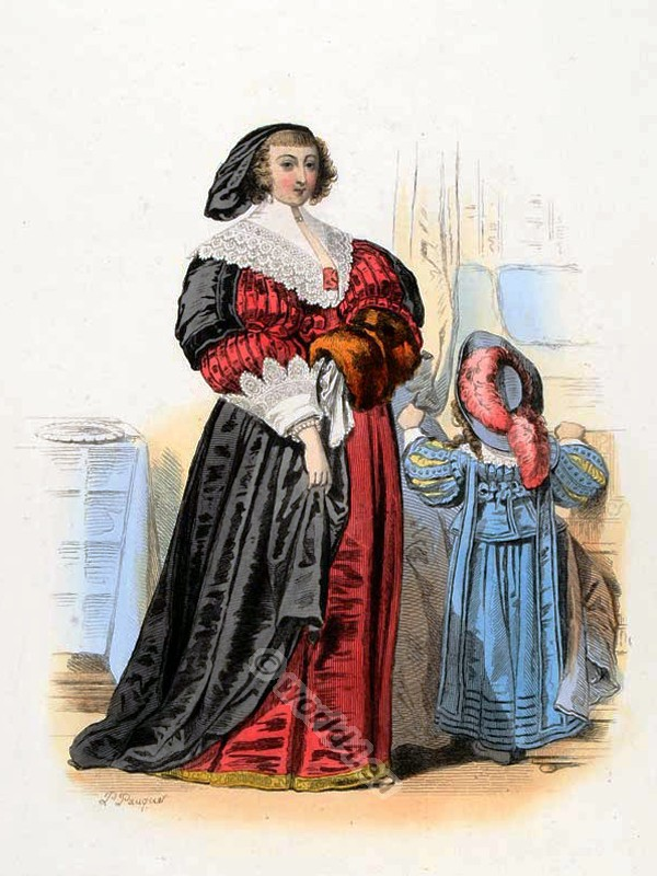 French Country Costume. Baroque costumes. 17th century fashion. Medieval Children clothing