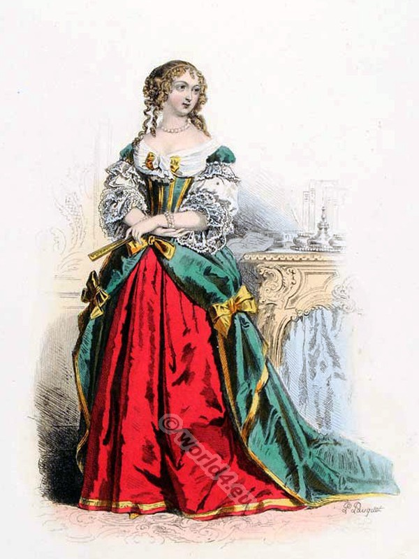 Comtesse de Grignan, Louis XIV, fashion, history, court, dress, baroque, 17th, century, Versailles,
