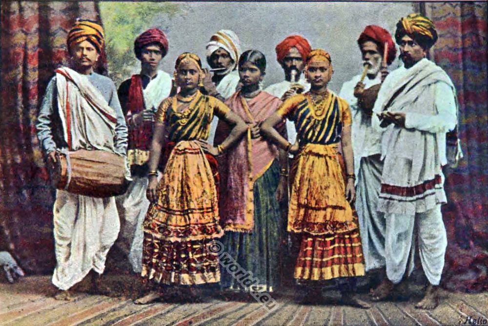 typical pictures of indian natives costume history