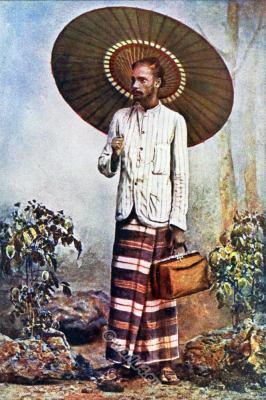Sinhalese. Traditional sarong. Sri Lanka national costume.
