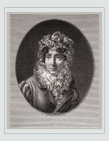 Famous woman 18th century. Madame de Genlis. French writer, Artist, Literature. Early feminist, femme fatale