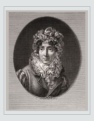 Félicité de Genlis. Famous French woman. 18th century. Madame de Genlis. French writer, Artist, Literature. Early feminist, femme fatale
