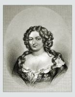Marquise de Montespan mistress of Louis XIV. Baroque period hairstyle. French courtisane