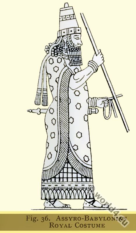 Ancient, Assyrian, Babylonia, Royal, costume,
