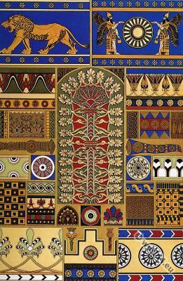 Ornaments, Ancient, decoration, Assyrian