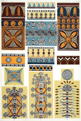 Ornaments, Ancient, decoration, Assyrian,Nineveh, Nimrod,