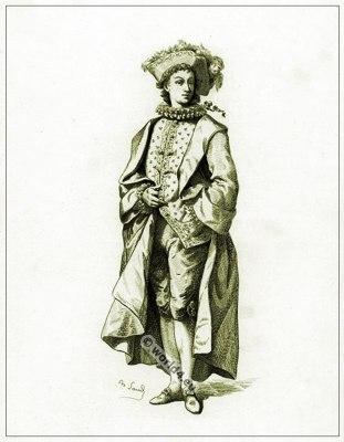 Commedia dell'arte Theater Costume Lelio, Masques et bouffons, Actors of the comédie italienne.