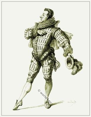 Commedia dell'arte Theater Costume Leandre, Masques et bouffons, Actors of the comédie italienne.