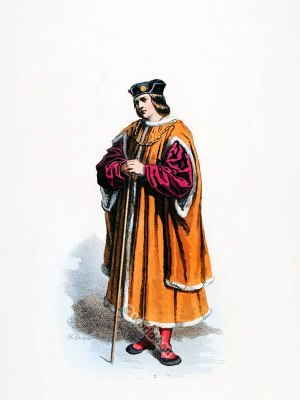 Parisian Bourgeois. Renaissance fashion. 16th century costumes