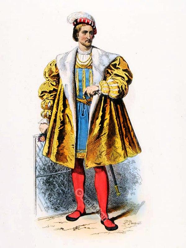 Henri d'Albret. Ancien Régime fashion. French Renaissance clothing. France medieval costume