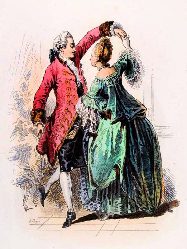 Modes parisiennes french rococo costumes ancien r gime for French rococo fashion